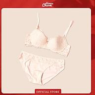 Bộ đồ lót có gọng đệm mỏng Pinkdear hoa hồng Venus Charm thumbnail