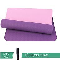 Thảm Tập Yoga RL Eco TPE 6mm 2 lớp Màu Tím Đậm Tặng Kèm túi thumbnail