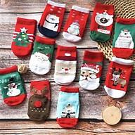Set 5 đôi tất có đế chống trượt đóng túi zip, 1 túi 5 đôi tất cho bé 0-3 tuổi thumbnail
