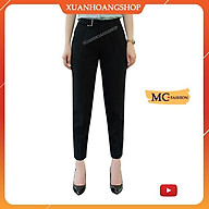 Quần Tây Nữ Lưng Cao, Dáng Baggy, Kiểu Công Sở Đẹp, 3 Màu(Xanh Tím Than, Đen, Ghi Xám) Mc Fashion Q0406 thumbnail