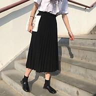 Chân váy dập ly nhỏ, dáng dài, chất CÁT HÀN trẻ trung thumbnail