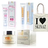 Combo mỹ phẩm Skinaz dành cho da nám tàn nhang - Tặng kèm túi xách thời trang tiện dụng thumbnail