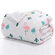Chăn lưới chống ngạt 6 lớp Babyup cao cấp ( SIZE 100 x 100 cm), có thể làm Khăn tắm cho bé, chất liệu 100% sợi bông hữu cơ an toàn - Giao ngẫu nhiên thumbnail