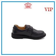 Giày Da Đen Đi Học Bé Trai Crown Space UK School Shoes CRUK165 Cao Cấp Nhẹ Êm Thoáng Mát Size 28-36 4-14 Tuổi thumbnail
