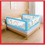 Thanh chắn giường khung chắc chắn cho bé ngủ và chơi an toàn không cần khoan đục (Giá 1 thanh) - Tặng kèm miếng dán chuyên dụng thumbnail