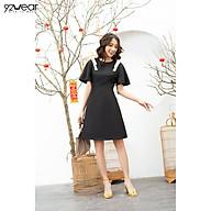 Đầm Váy Nữ 92WEAR Ngắn Tay Phối Viền Ren DDW0583 thumbnail