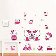 Decal dán tường chất liệu PVC loại 1 dày dặn, sắc nét, trang trí lớp mầm non, phòng ngủ cho bé- Kity ngộ nghĩnh- mã sp 0167 thumbnail