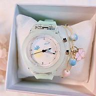 Đồng hồ nữ Gristal Dream dây cao su phát sáng nhiều màu rất đẹp thumbnail