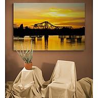 Tranh Treo Tường Trang Trí Decor Canvas Nghệ Thuật - Phong Cảnh Các Cây Cầu Ở Hà Nội - Công Nghệ In UV Nhật Bản - Màu Sắc Đẹp Rõ Nét thumbnail