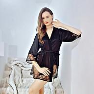 Áo choàng ngủ phi lụa kimono wannabe kis06 lai phối ren xinh xắn nữ tính sang trọng thumbnail