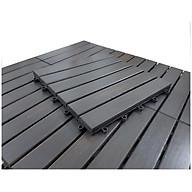 Viên Gạch Gỗ Tự Nhiên Ngoài Trời Tiêu Chuẩn Xuất Khẩu - Sàn gỗ vỉ nhựa ngoài trời 12 nan (30x30x2.5cm, 1m2 11vỉ) thumbnail
