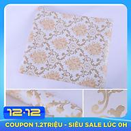 Combo 10m giấy dán tường Hoa văn vàng 002 có keo sẵn thumbnail
