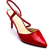 Giày Cao Nữ 2 Dây Mozy MZSD031.1 - Đỏ thumbnail
