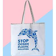 Túi xách vải bố Canvas thời trang, in thông điệp Bảo Vệ Môi Trường GB-TCV01 thumbnail