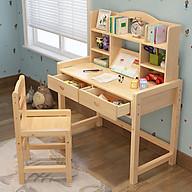 Bàn học kèm giá sách - Bàn học sinh kèm giá sách bằng gỗ chắc chắn - Bàn học thumbnail