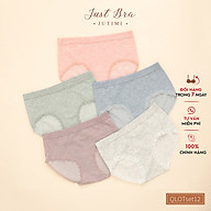 Set quần chip nữ Just Bra Chất liệu cotton mềm mịn,thoáng mát QLOTSet12 thumbnail