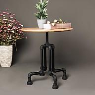 Bàn tròn ống nước bàn tròn decor vintage chất liệu ống nước và gỗ trang trí nhà decor quán café thumbnail