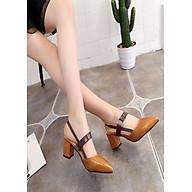 Giày gót vuông khóa kiểu cao cấp hàng nhập - CG2051 thumbnail