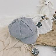 Mũ beret, Mũ nồi cho bé vải nhung mền mại thời trang cho bé trai, bé gái thumbnail
