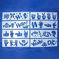 Bộ 8 Thước Vẽ Mỹ Thuật Trang Trí Sáng Tạo - Xin Chào thumbnail