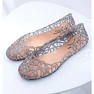 Giày búp bê nữ đế bằng nhựa đi mưa siêu bền đi thoáng và êm chân full size nhiều màu V217 thumbnail