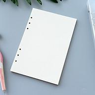 Tập giấy refill trắng trơn 6 lỗ cỡ A5 - 210x142mm thumbnail