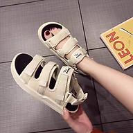 Dép Quai Hậu Sandal Nữ 3 Quai Dán Ngang Thời Trang Cao Cấp Ladiez Thoáng Khí Êm Chân Đế Bánh Mì Xinh Xắn Siêu Đẹp thumbnail