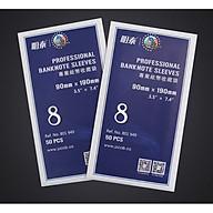 SIZE 8 (9x19cm) SET 50 miếng nilon đựng tiền giấy , giúp bảo quản tiền chuyên nghiệp , sản phẩm chuyên dùng các nhà sưu tập - The Merrick Mint thumbnail