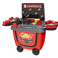 Bộ đồ chơi xe phụ kiện dụng cụ sửa chữa cao cấp hình ô tô cho búp bê bé trai gồm 28 chi tiết sinh động thumbnail