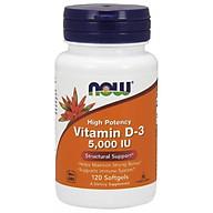 NOW Vitamin D-3 500IU - Bổ Sung D-3 Hỗ Trợ Hấp Thu Canxi Tốt Hơn, Giúp Xương & Răng Chắc Khỏe, Tăng Cường Miễn Dịch Chai 120 Viên nang mềm thumbnail