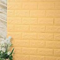 Bộ 10 tấm xốp dán tường giả gạch qknt61 màu vàng 3 thumbnail