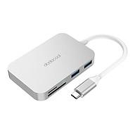 Hub USB-C 6 Trong 1 Dodocool (Cổng Type-C PD + 3 Cổng USB 3.0 + Khe Cắm Thẻ SD TF) thumbnail