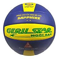 Bóng chuyền dán Gerustar Số 5 - Sapphire 2 sao - (Tặng Băng dán thể thao + Kim bơm + Lưới đựng) thumbnail