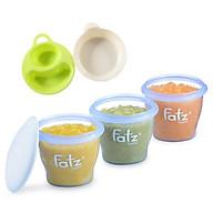 Bộ 3 cốc hộp trữ thức ăn 85ml fatzbaby kèm 2 bát ăn dặm cho bé thumbnail