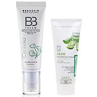 Kem lót nền che khuyết điểm tông tự nhiên BB cream Beauskin Cica Centella Hàn quốc (45ml) và sữa rửa mặt Dabo thumbnail