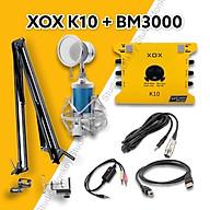 Bộ Mic Hát Livestream Soundcard XOX K10 2020 & Mic BM3000 Chất Lượng Cao, Âm Thanh Cực Kỳ Sống Động - Hàng Chính Hãng thumbnail
