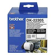 Giấy In Nhãn Liên Tục Brother DK-22205 (62mm x 30m) - Hàng Chính Hãng thumbnail