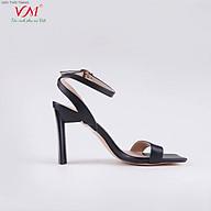Sandal cao gót nữ, chiều cao gót 9CM, da Tổng hợp êm ái, bền chắc và thời trang. Mũi Vuông, gót Oval sơn tĩnh điện, sang trọng và chắc chắn, thiết kế hiện đại, tinh tế, thời trang SD.MT02.9F thumbnail