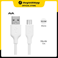 Cáp Micro 1m AVA DR-M01 Trắng - Hàng chính hãng thumbnail