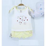 Bộ áo nơ- quần đùi chun gấu xinh xắn cho bé gái 6-24m thumbnail
