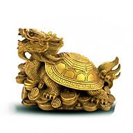 Tượng Long quy bát quái rùa đầu rồng bằng đồng thau phong thủy Tâm Thành Phát thumbnail