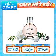 Nước Hoa Nữ IMMORTEL PARIS No777 Eau De Parfum Dung Tích 60ml -Với hương thơm nồng nàn và gợi cảm , bí ẩn đầy quyến rũ thumbnail