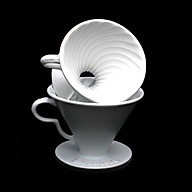 Phễu lọc cà phê V60 sứ cao cấp Brewista Dripper - màu trắng thumbnail