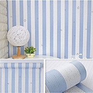 10m Giấy dán tường cuộn sọc xanh C0030B thumbnail