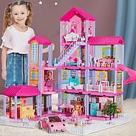 Ngôi nhà búp bê Barbie Mitolo đồ chơi xếp hình lắp ráp cho bé gái , món quà tặng sinh nhật 556-24 thumbnail