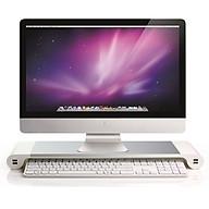 Giá đỡ màn hình PC cao cấp, thiết kế sang trọng, đẹp mắt tích hợp 4 cổng USB sạc nhanh ( Tặng kèm quạt mini cắm cổng USB ngẫu nhiên ) thumbnail