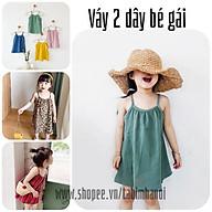 Váy Hai Dây Đũi Lanh Mềm Mát Sành Điệu Cho Bé Gái thumbnail