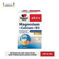 Viên Bổ Sung DoppelHerz Magnesium + Calcium + D3 Tốt Cho Cơ Bắp, Xương Khớp ( 60 viên ) thumbnail