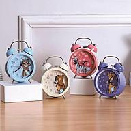 Đồng hồ báo thức CHUÔNG ĐÔI TO, có đèn, đồng hồ kim loại phong cách cổ điển thumbnail
