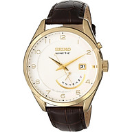 Seiko Men s SRN052 Stainless Steel Watch with Leather Band thumbnail